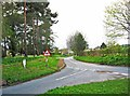 SO8068 : Minor road to Astley Church and Astley Church of England School, Astley, Worcs by P L Chadwick