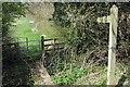 SP8423 : Footpath to Cublington Spinney by Philip Jeffrey