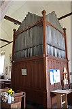 TQ9644 : Organ, St Margaret's church, Hothfield by Julian P Guffogg