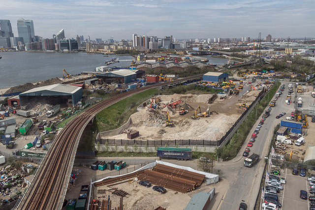Railway Line as seen from the Emirates Cable Car