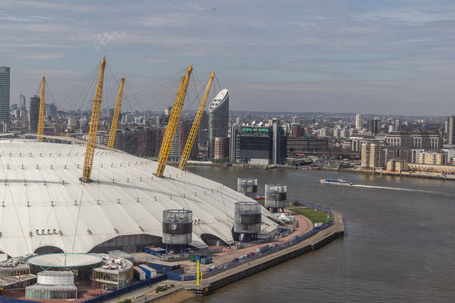 O2 Centre from Emirates Cable Car