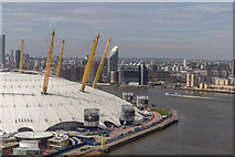 TQ3980 : O2 Centre from Emirates Cable Car by Christine Matthews