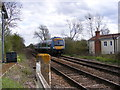 TM4072 : Train approaching the Level Crossing by Adrian Cable