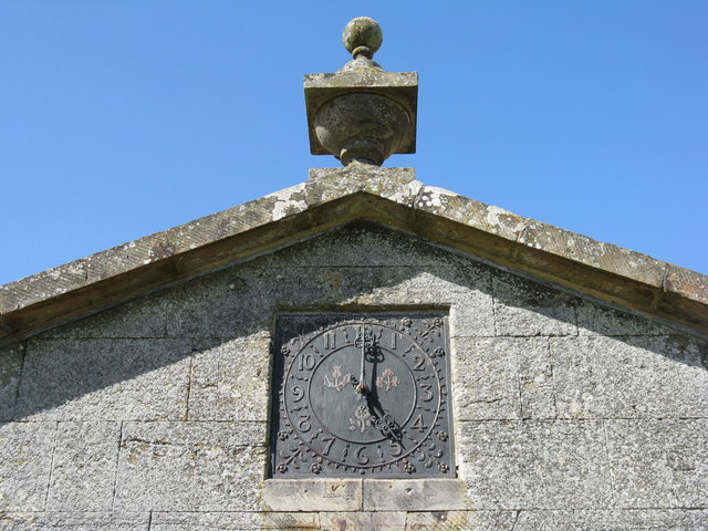 Clock on the west wing of Dumfries House