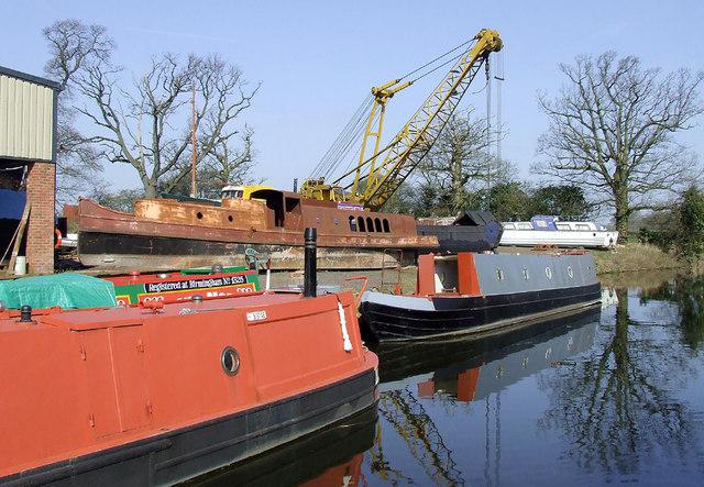 Boatyard north-west of Brewood, Staffordshire