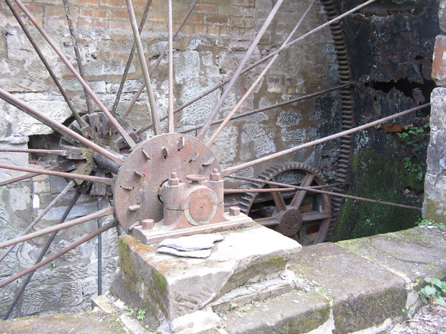 Water mill wheel at Dumfries House sawmill