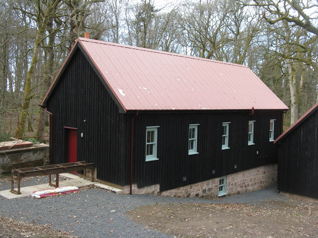 Restored sawmill at Dumfries House estate