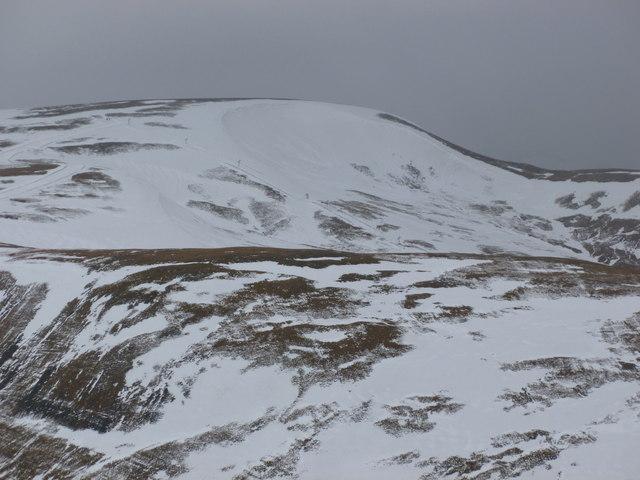 Large snow accumulations, Glas Maol