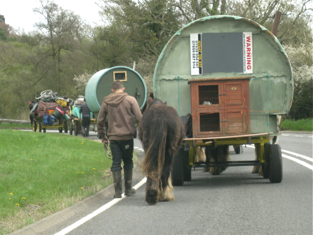 Travellers on the road near Henley-in-Arden