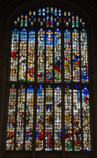 Stained glass window - King's College Chapel