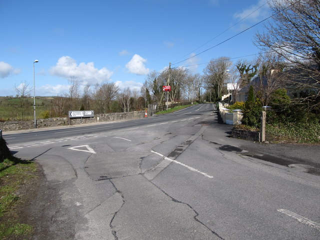 Carrive Road at its junction with the Newry Road at Silverbridge