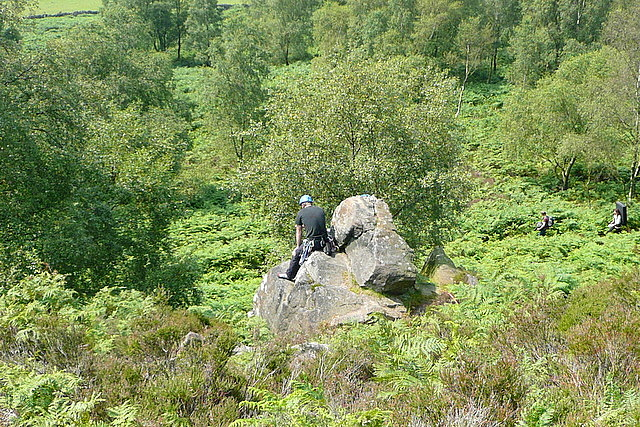 Climbing at Birchen Edge