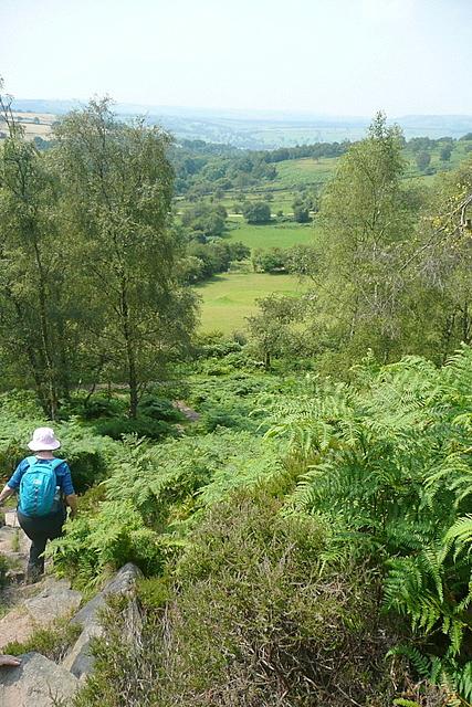 Descent from Birchen Edge