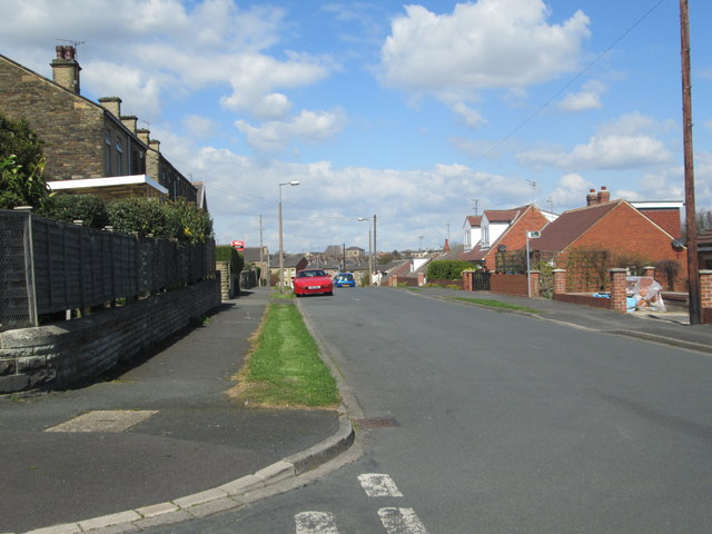Hindley Road - viewed from Victoria Road by Betty Longbottom