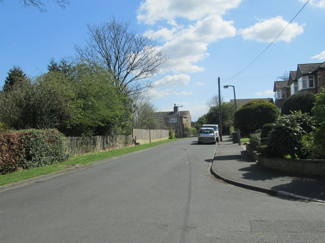 Forge Lane - viewed from Cornmill Crescent by Betty Longbottom