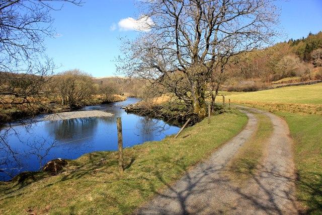 Footpath and River at Dolwyddelan