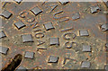 "J4180 : Adams ""Conical"" manhole cover, Cultra (2) by Albert Bridge"