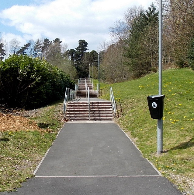 Long flight of steps, Pengam by Jaggery
