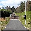 ST1597 : Long flight of steps, Pengam by Jaggery