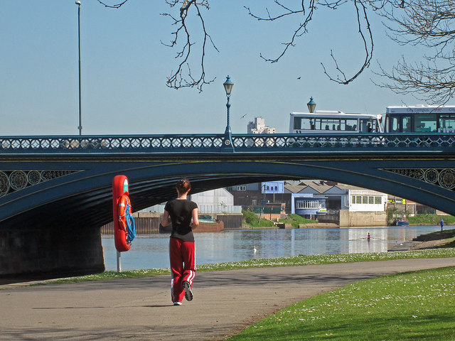 Trent Bridge and a jogger