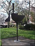 TQ2977 : Artwork, Pimlico Gardens, Grosvenor Road SW1 by Robin Sones