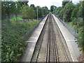 SJ3876 : Overpool railway station, Cheshire by Nigel Thompson