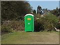 TQ0456 : Papercourt porta-loo by Alan Hunt