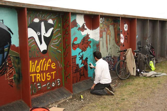 Fledborough Viaduct murals
