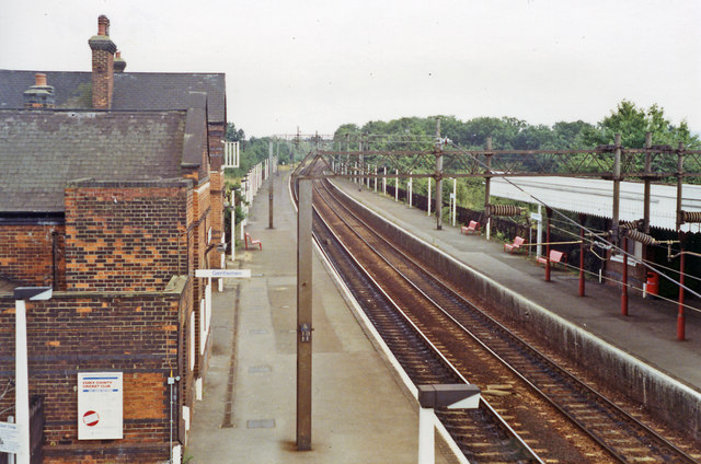 West Horndon station, 1991