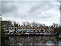 TQ2681 : View of narrowboats moored up at Little Venice for the Canal Cavalcade #8 by Robert Lamb