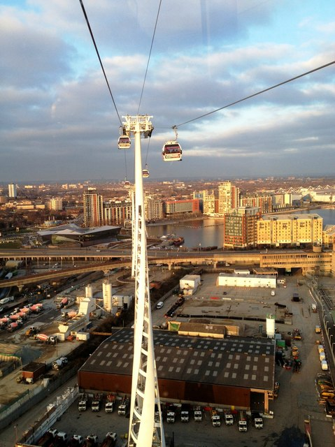 View from Emirates Air Line cable car, East London