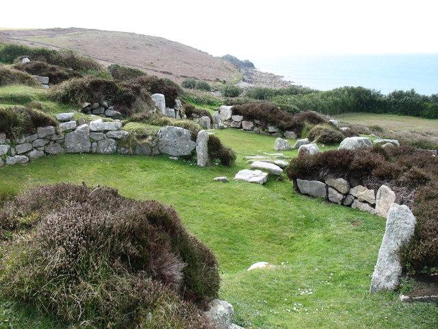 Ancient settlement on Halangy Down