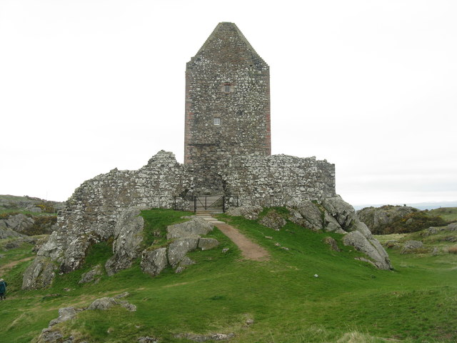 Smailholm Tower - entrance, from the west