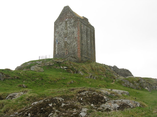 Smailholm Tower from the northeast