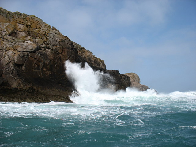 Rough seas on Round Island!