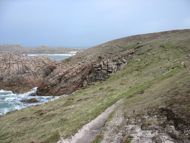 The coast path on Bryher