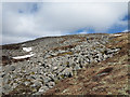 NH4782 : Bouldery southern slope of Carn Chuinneag west top by Trevor Littlewood