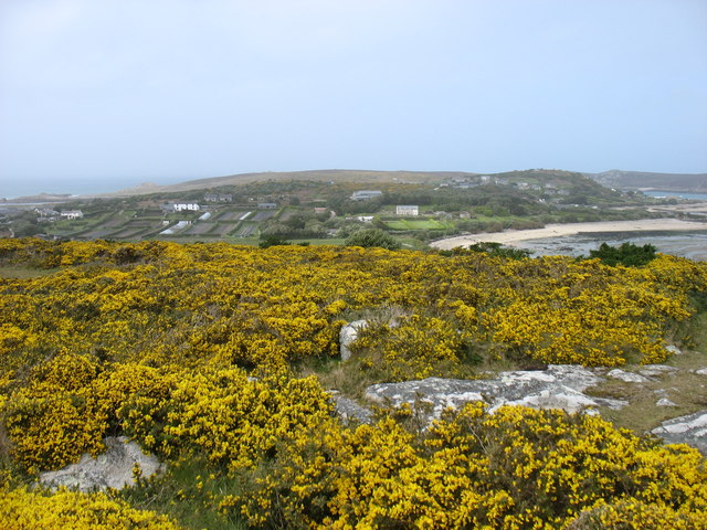 The Town, Bryher, from Samson Hill