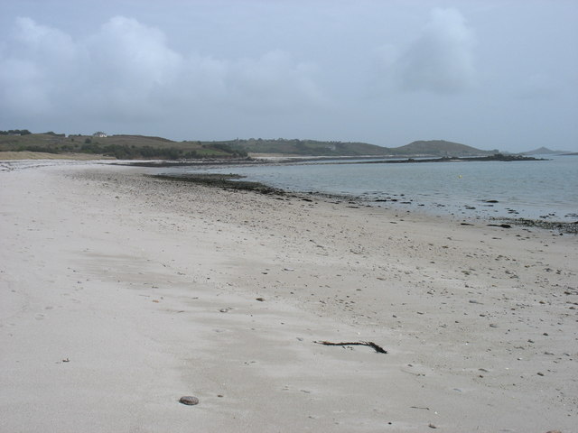 The beach at Lower Town, St Martin's