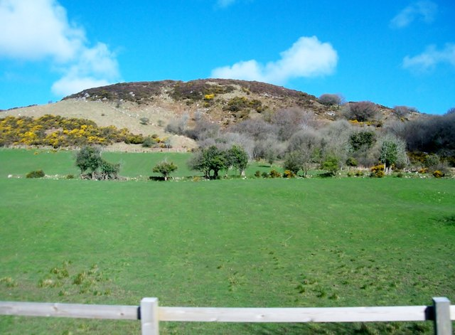 Improved grassland on the lower slopes of Sturgan Mountain