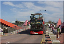 ST1974 : Sightseeing bus at Cardiff Bay by john bristow
