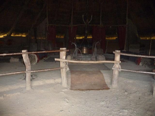Chieftain's hut interior at Castell Henllys