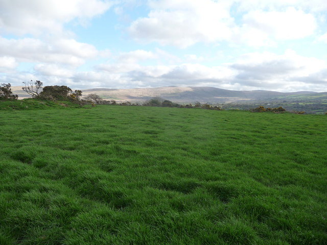 On Castell Mawr with a view to the Preseli Hills
