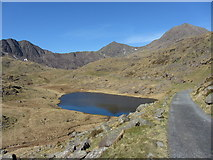 SH6454 : Llyn Teyrn, Snowdon and the Miners' Track by Gareth James