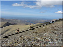 SH6054 : Track workers on the Snowdon Mountain Railway by Gareth James