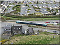 SH5831 : A train arrives at Harlech by Gareth James