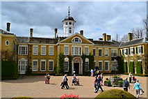 TQ1352 : Bank holiday visitors, Polesden Lacey by David Martin
