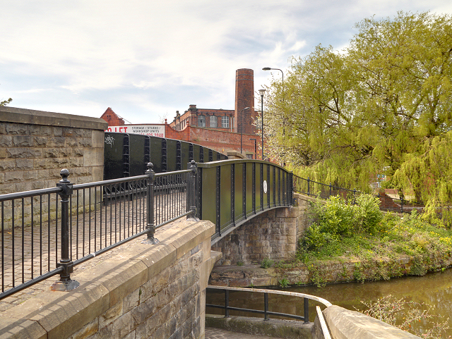 Leeds and Liverpool Canal Bridge #51, Pottery Road Bridge at Wigan Pier