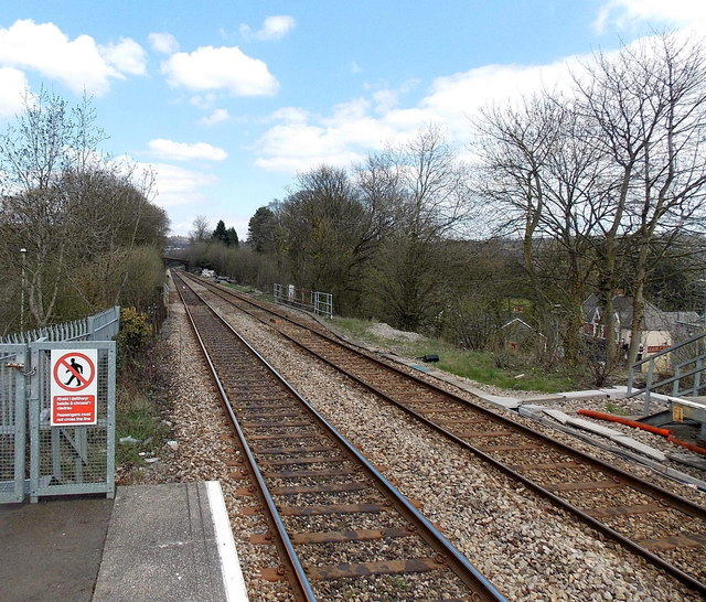A view NE from Pengam railway station by Jaggery