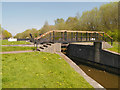 SD5704 : Leeds and Liverpool Canal, Leigh Branch, Footbridge at Poolstock Upper Lock by David Dixon